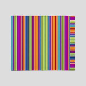 Just Stripes 4 Throw Blanket