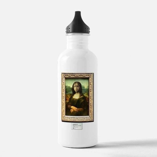 Mona Lisa demonically  Water Bottle
