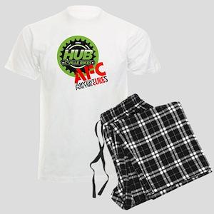 AFC/HUB LOGO c (10x10, clr bk Men's Light Pajamas