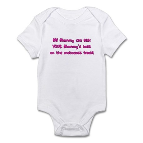 My Mommy Motocross Baby Bodysuit Pink
