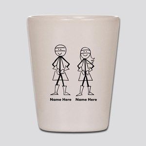 Super Stick Figure Couple Shot Glass