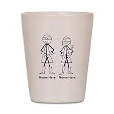 Super Stick Figure Couple Shot Glass