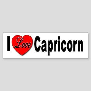 I Love Capricorn Bumper Sticker