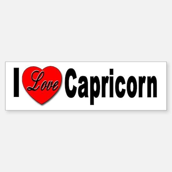I Love Capricorn Bumper Bumper Bumper Sticker