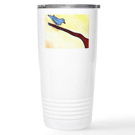 Blue Bird by Sabrina! Stainless Steel Travel Mug