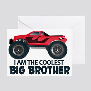 Coolest Big Brother - Truck Greeting Card