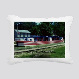 Whitewater Canal Rectangular Canvas Pillow