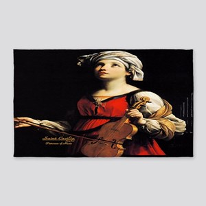 Saint Cecilia Patroness of Music Area Rug