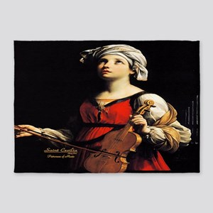 Saint Cecilia Patroness of Music 5'x7'Area Rug