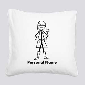 Personalized Super Girl Square Canvas Pillow
