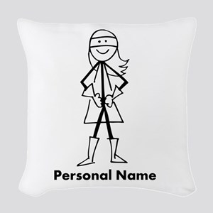 Personalized Super Girl Woven Throw Pillow