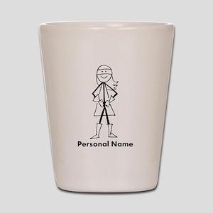 Personalized Super Girl Shot Glass