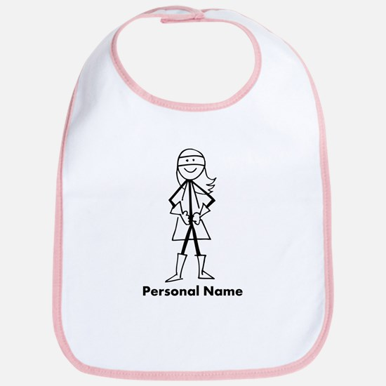Personalized Super Girl Bib