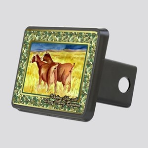 Dairy Goat Christmas Card Rectangular Hitch Cover
