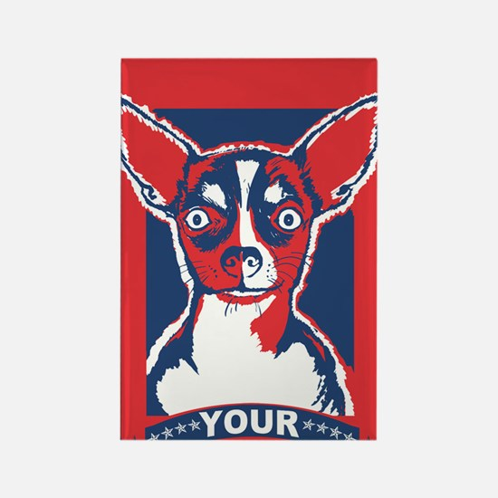 Disobey Your Master Chihuahua Rectangle Magnet
