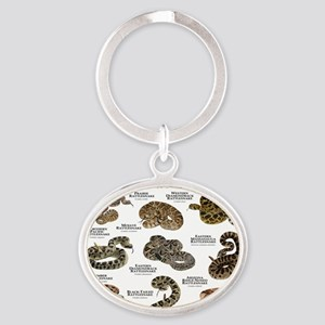 Rattlesnakes of North America Oval Keychain