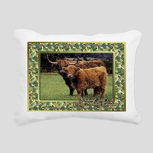 Highland Cow And Calf Ch Rectangular Canvas Pillow