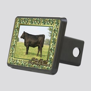 Black Angus Heifer Christm Rectangular Hitch Cover