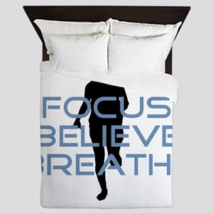 Blue Focus Believe Breathe Queen Duvet