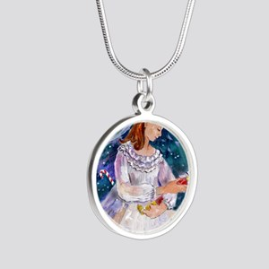 Clara_Nutcracker Silver Round Necklace