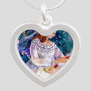 Clara_Nutcracker Silver Heart Necklace
