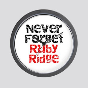 Never Forget Ruby Ridge Wall Clock