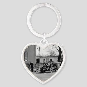 Construction Crew Heart Keychain