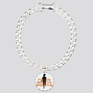 Orange Focus Believe Bre Charm Bracelet, One Charm