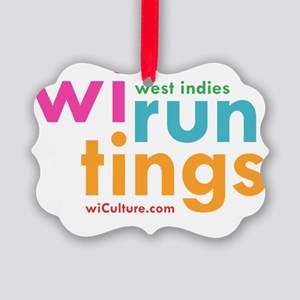 wi run tings Picture Ornament