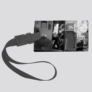 Armored Car Driver With Pistol Large Luggage Tag