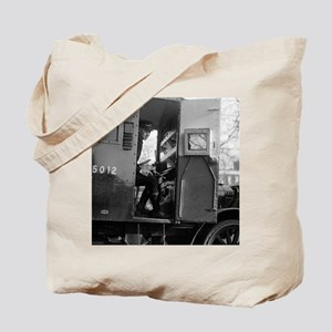 Armored Car Driver With Pistol Tote Bag