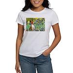 Basenji in Irises Women's T-Shirt