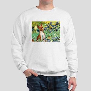 Basenji in Irises Sweatshirt