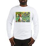 Basenji in Irises Long Sleeve T-Shirt