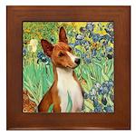 Basenji in Irises Framed Tile
