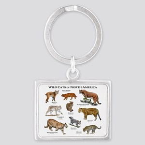 North American Wildcats Landscape Keychain