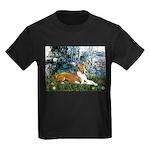 Lilies (1) with a Basenj Kids Dark T-Shirt