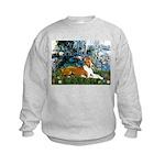 Lilies (1) with a Basenj Kids Sweatshirt