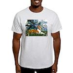 Lilies (1) with a Basenj Light T-Shirt