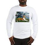 Lilies (1) with a Basenj Long Sleeve T-Shirt