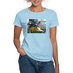 Lilies (1) with a Basenj Women's Light T-Shirt