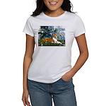 Lilies (1) with a Basenj Women's T-Shirt