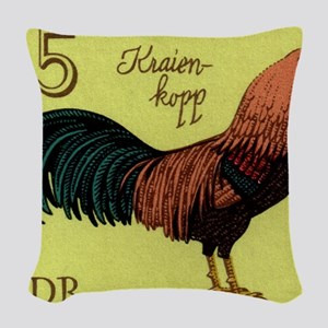 1979 Germany Kraienkopp Rooste Woven Throw Pillow