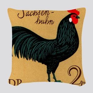 1979 Germany Saxonian Rooster  Woven Throw Pillow