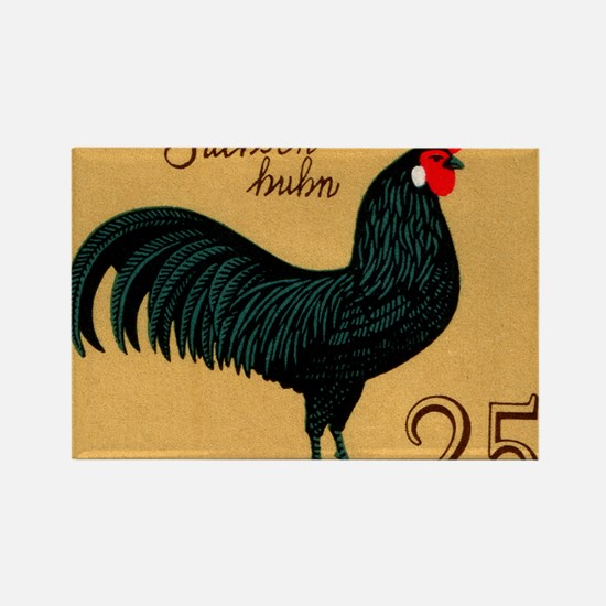 1979 Germany Saxonian Rooster Pos Rectangle Magnet