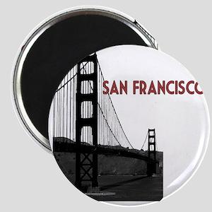 San Francisco Golden Gate Bridge over bay t Magnet