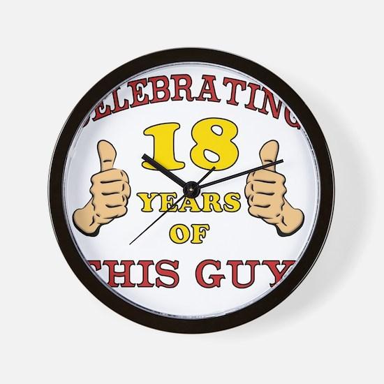 Funny 18th Birthday For Boys Wall Clock