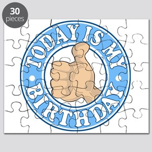 TODAY IS MY BIRTHDAY BLUE Puzzle