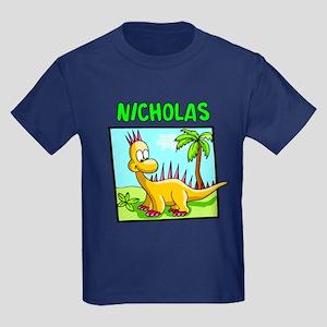 Nicholas Dinosaur Kids Dark T-Shirt