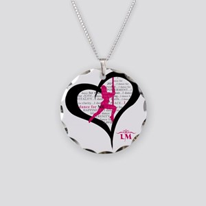 LM Dancer Heart Necklace Circle Charm